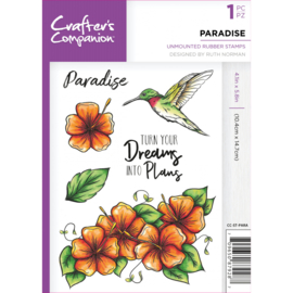 Crafter's Companion A6 unmounted rubberen stempel - Paradise