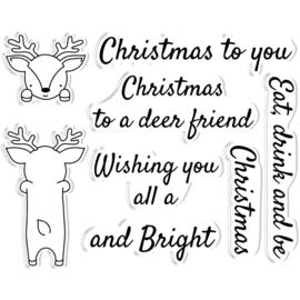 Peek-A-Boo Clearstamp & Snijmal Kerst - Reindeer