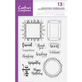 Crafter's Companion A5  clearstamp - Frame Sentiments