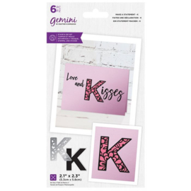 Gemini Make A Statement Snijmal&stempel set - K