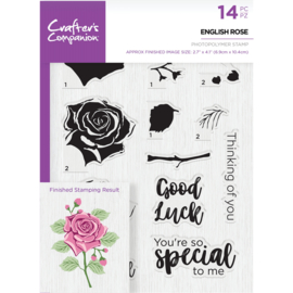 Crafter's Companion A5  clearstamp - English Rose