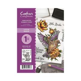 Crafter's Companion A6 unmounted rubberen stempel - Little Birdie