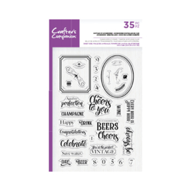 Crafter's Companion Shaped Clearstamp - Bottles Up Accessoires