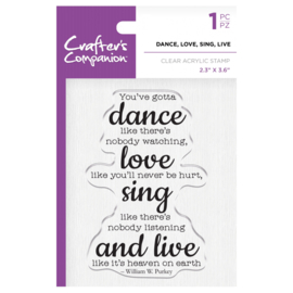 Crafter's Companion Clear stempel - Dance, Love, Sing, Live