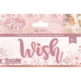 Rose Gold Metalen snijmal - Wish