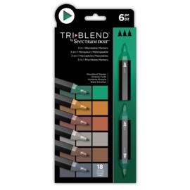 Spectrum Noir  - Triblend - Woodland Shades (Bosland Shades) a 6 stuks