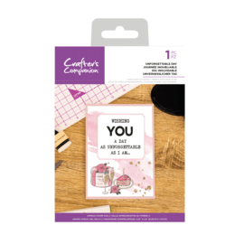 Crafter's Companion Clear stempel - Unforgettable Day