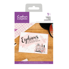 Crafter's Companion Clear stempel - Eyebrows