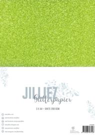 Jilliez A4 Glitterpapier Groen