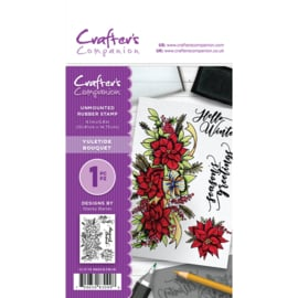 Crafter's Companion A6 unmounted rubberen stempel - Yuletide Bouquet