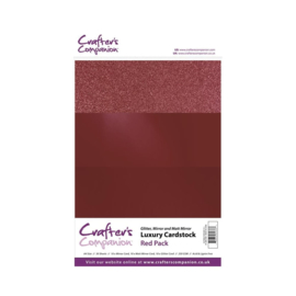 Crafter's Companion Luxury Cardstock Red Pack A4