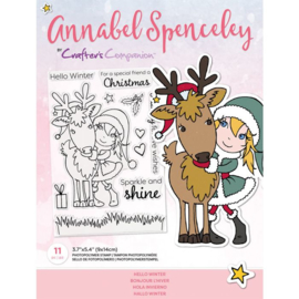 Annabel Spenceley Clearstamp - Hello Winter
