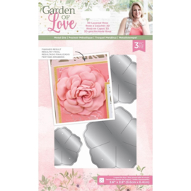 Garden of Love - Metalen snijmal - 3D Layered Rose