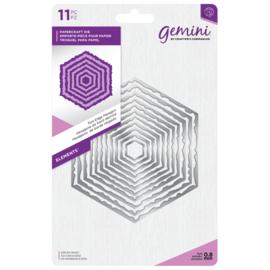 Gemini Elements - Torn Edge Hexagon (Gescheurde rand zeshoek)
