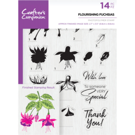 Crafter's Companion A5  clearstamp - Flourishing Fuchsias