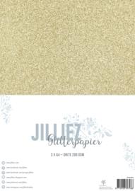 Jilliez A4 Glitterpapier Goud