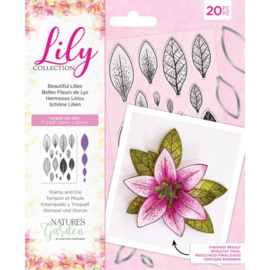 Lily Collection - Clearstamp&snijmallen set - Beautiful Lilies
