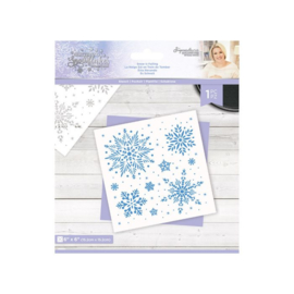 Glittering Snowflakes 15x15 cm Stencil - Snow Is Falling