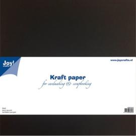 Kraft papier Scrapformaat 30,5 x 30,5 cm zwart
