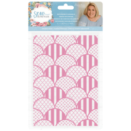 Sara Signature Collection Sew Homemade - 5x7 Embossing Folder - Patchwork Clamshells
