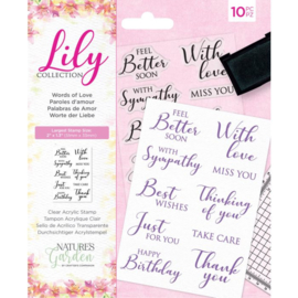 Lily Collection - Clearstamp - Words of Love