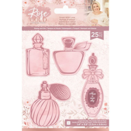 Rose Gold Clearstamp/snijmallen set - Scent with Love