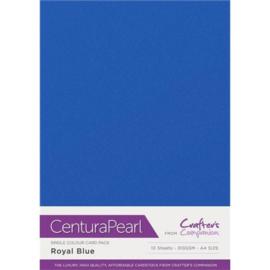 Crafter's Companion Glitter karton A4 a 10 vel - Koninklijk Blauw