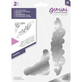 Gemini Folie Stamp mal - Elementen - Biarritz Rand & Hoek