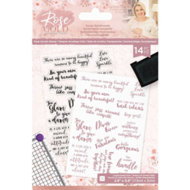 Rose Gold A6 Clearstamp - Sassy Sentiments