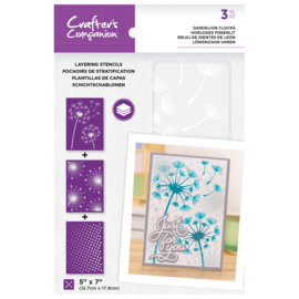 CC - Layering Floral Stencil - Dandelion Clocks