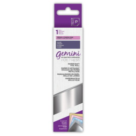 Gemini Papercraft Folie - Zilver