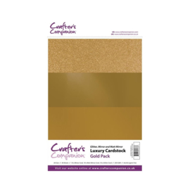 Crafter's Companion Luxury Cardstock Gold Pack A4