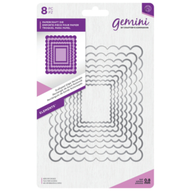 Gemini Elements - Scalloped Edge Rectangle (Geschulpte rand rechthoek)