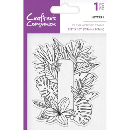 Crafter's Companion Clear stempel alfabet letter I