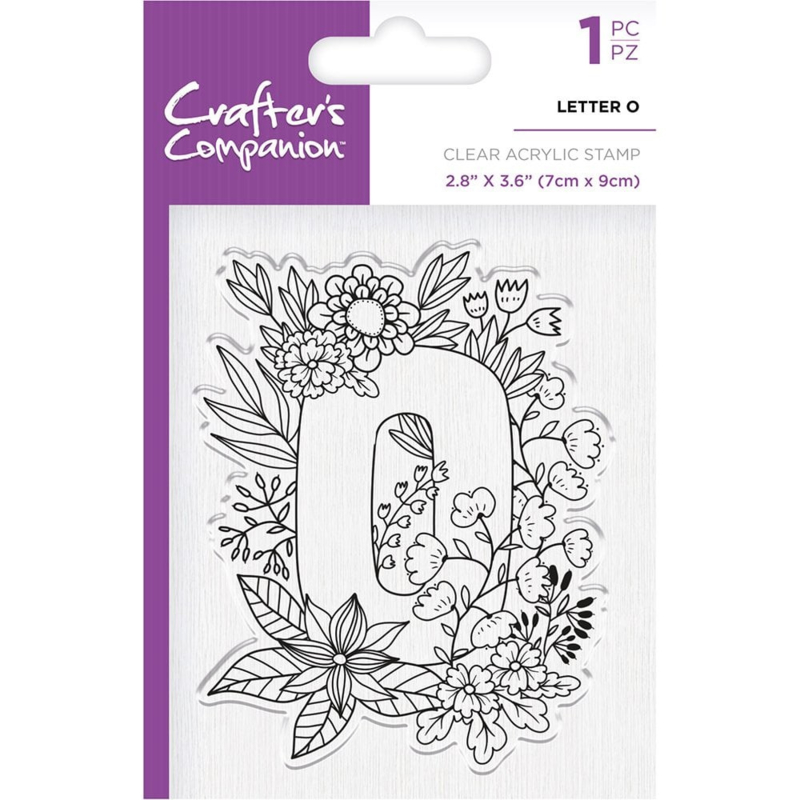 Crafter's Companion Clear stempel alfabet letter O