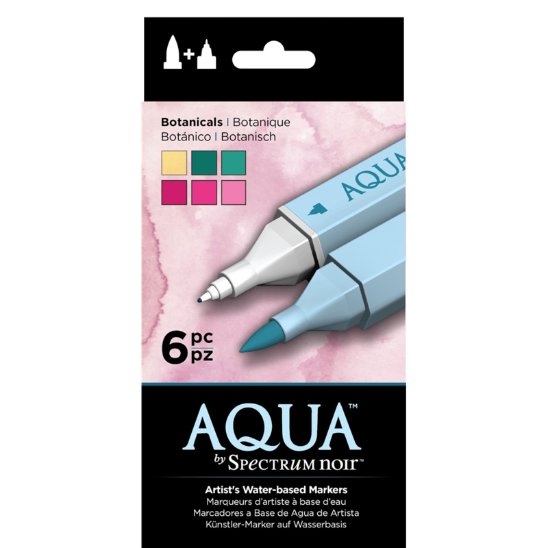 Spectrum Noir Aqua Markers 6 Pen Sets - Botanisch