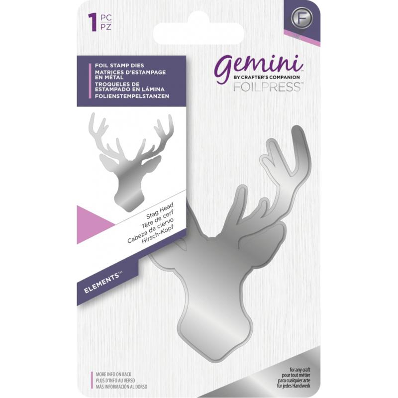 Gemini Folie Stamp mal - Elementen - Stag Head (Herten kop)