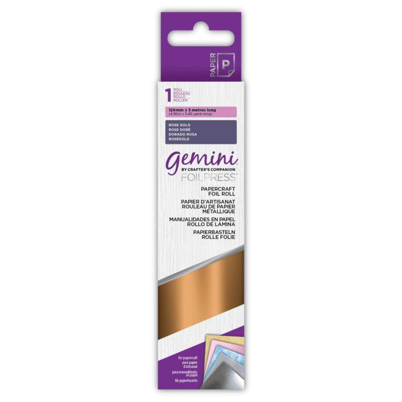 Gemini Papercraft Folie - Roze Goud