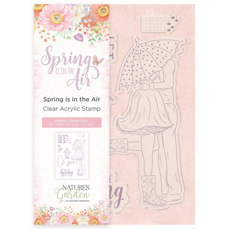 Nature's Garden Acryl Stempel - Spring is in the air