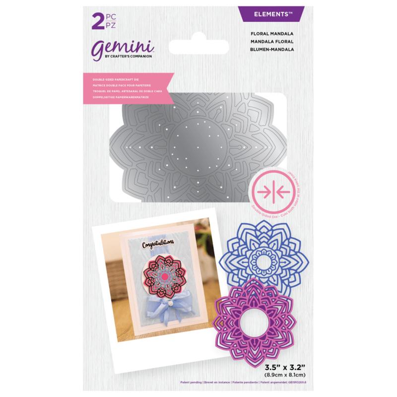 Gemini Elements - Dubbelzijdige snijmal - Floral Mandala