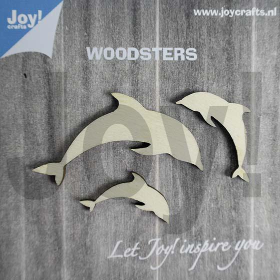 Woodsters - Figuren hout: Dolfijnen