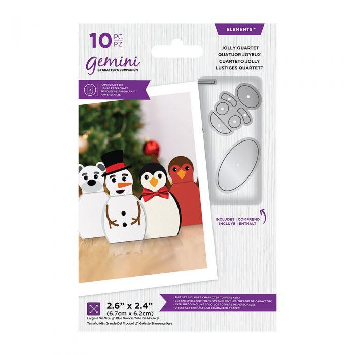 Gemini Kerst verpakking snijmal - Jolly Quartet