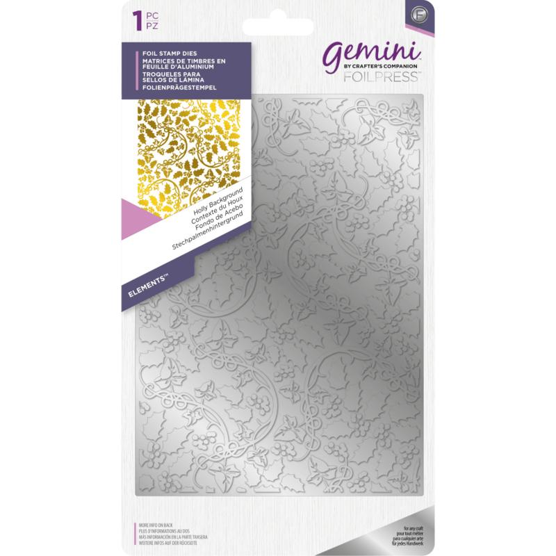 Gemini Folie Stamp mal - Elementen - Hulst achtergrond