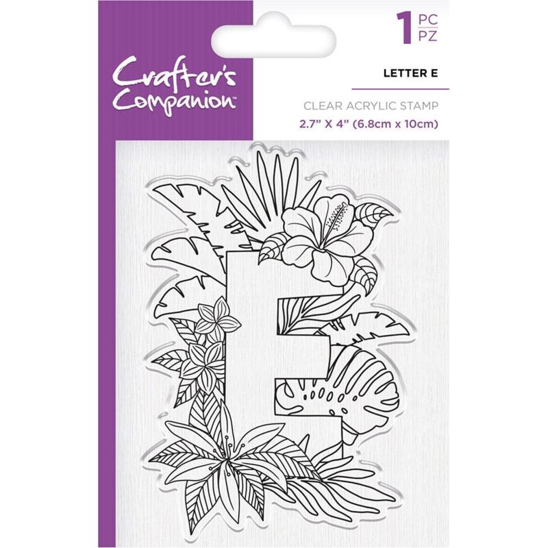 Crafter's Companion Clear stempel alfabet letter E