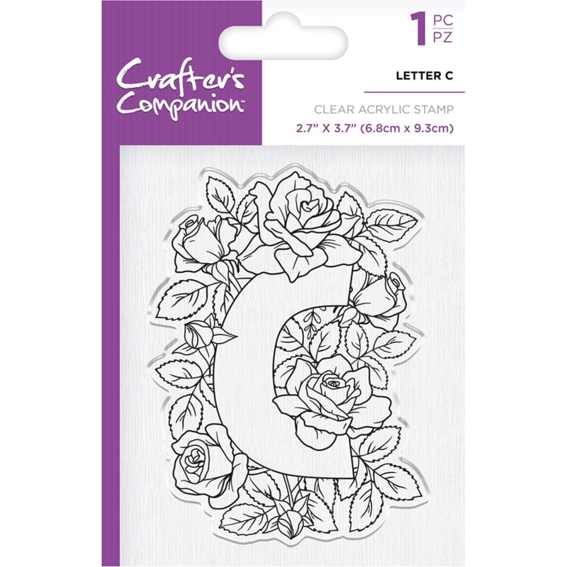 Crafter's Companion Clear stempel alfabet letter C