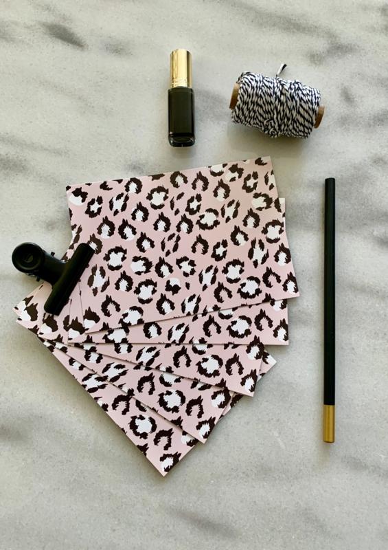 Lily Postcard set Leopard Blush