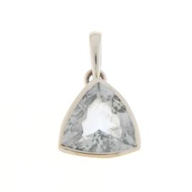 Zilveren hanger met Aquamarijn edelsteen