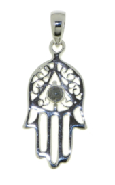 Handje van Fatima, Hamsa handje hanger met Labradoriet