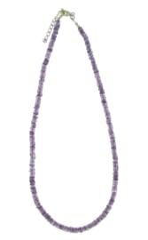 Zilveren collier met Amethist edelstenen