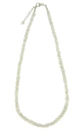 Zilveren collier met Regenboog Maansteen
